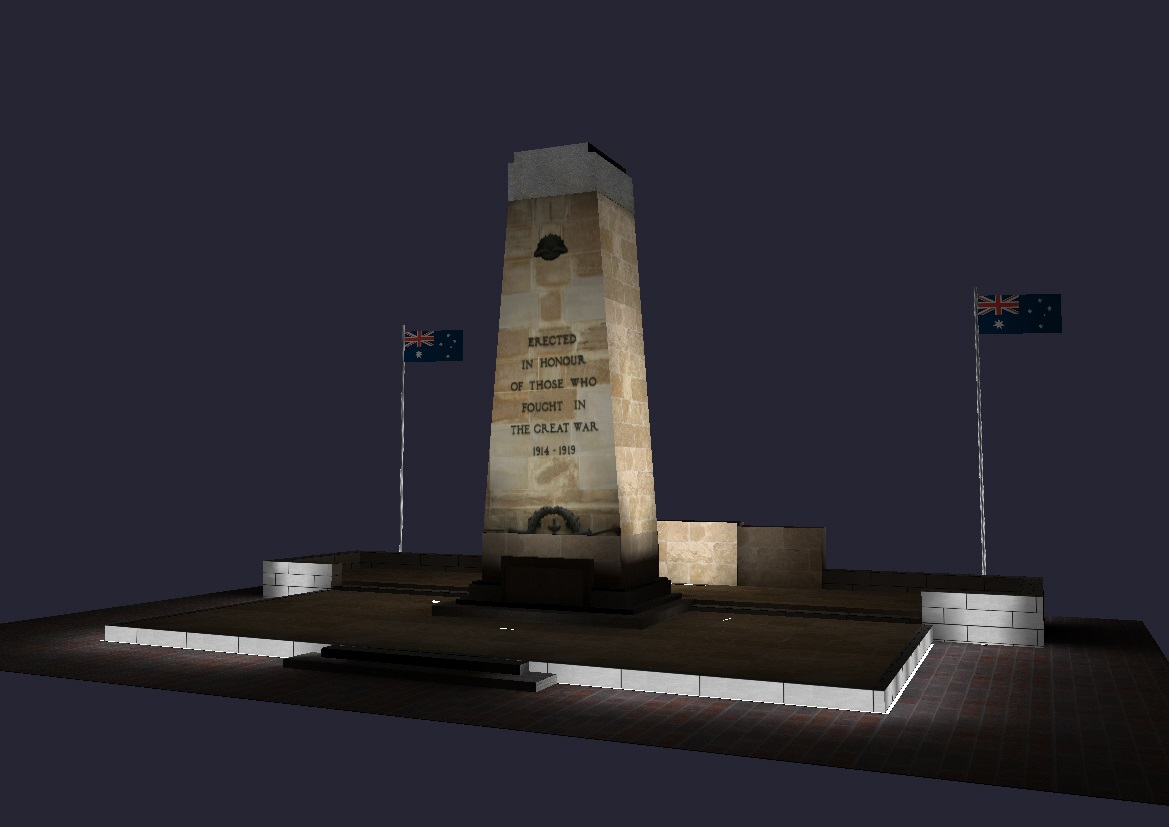 2014 09 26 CENOTAPH LIGHTING OPTION 2 VIEW 2_small